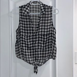 2/$30 NWOT Garage chiffon checked blouse